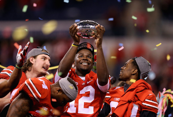 Cardale Jones and the Buckeyes were outsiders looking in going into the final week of the 2014 season before a 59-0 whitewash of Wisconsin in the Big Ten title game earned them a Playoff spot. (Andy Lyons/Getty Images)