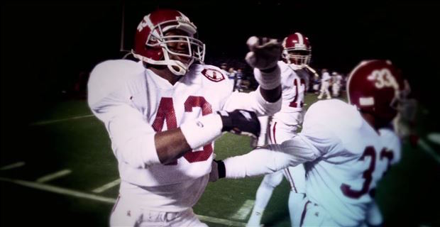 Antonio Langham (43) made the first-ever SEC Championship Game in 1992 memorable with his game-clinching pick six. (ESPN MediaZone)