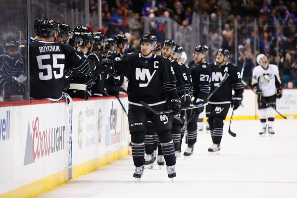 Times at the Barclays Center have been real good for the Islanders, who haven't lost in regulation at home since Jan. 25. (Al Bello/Getty Images)