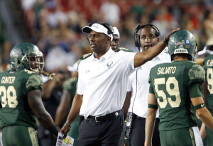 After leading the Bulls to 18 wins in the last two seasons, how long will Willie Taggart remain in Tampa? (Joseth Garnett Jr./Getty Images)