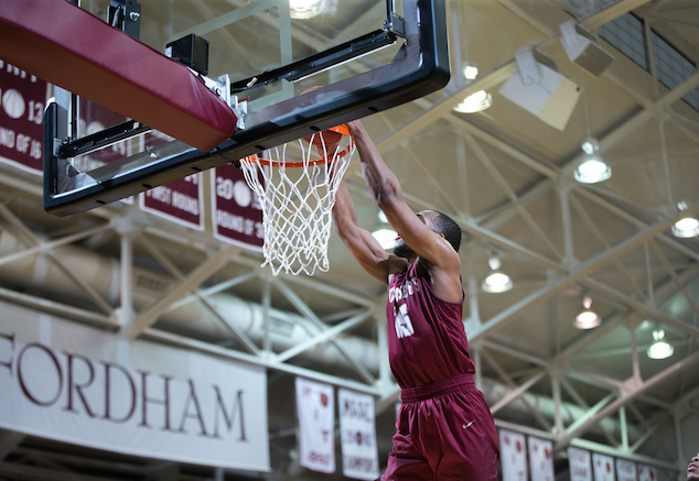 Saint Joseph's, with the help of Chris Clover, shot 53 percent in its win over Fordham to improve to 2-1 in A-10 play. (Robert Cole)