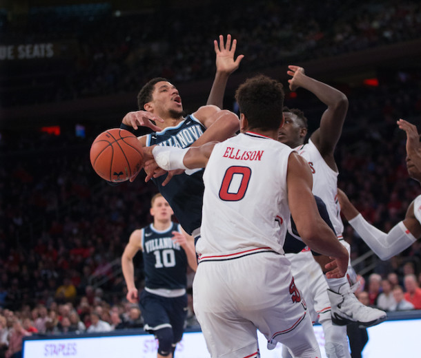 Though the front-runner for national player of the year, Villanova guard Josh Hart had to work hard for his 11 points that he scored against a determined St. John's squad. (Photo by Robert Cole)