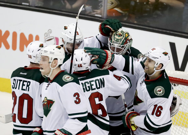 The Minnesota Wild had lost two of three after its 12-game winning streak, but they rallied to defeat the Anaheim Ducks on Sunday. (Chris Carlson/AP Photo)