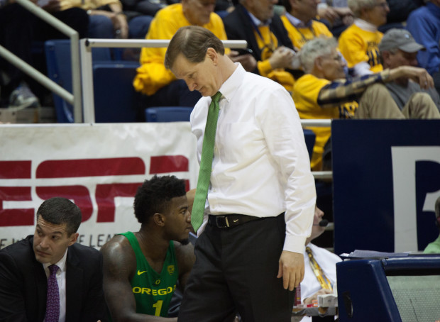 Almost everything was going swimmingly for Dana Altman and the Ducks before Chris Boucher's ACL tear last week. Can the Ducks, a No. 3 seed, recover from that loss to make a Final Four run? (Yasmin Vahdatpour/ALOST)