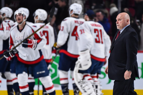 Led by head coach Barry Trotz, the Capitals became the second team in NHL history to win 55 or more games in back-to-back seasons. (Minos Pangiotakis/Getty Images)