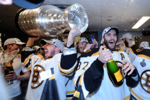 Can Brad Marchand (left, with Cup) and Patrice Bergeron recapture the magic that brought Boston Lord Stanley in 2011? (Getty)