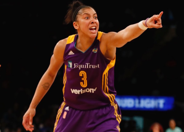 Candace Parker got things pointed in the right direction for her in the second half, scoring 12 of her 20 points in the final 20 minutes to help lift the Sparks to victory in the Big Apple. (Robert Cole/ALOST)