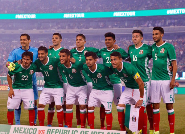It was a good night for the Mexican National Team in front of a partisan crown in the shadows of New York City as they get ready for a couple of crucial World Cup Qualifying games next week. (Robert Cole/ALOST)