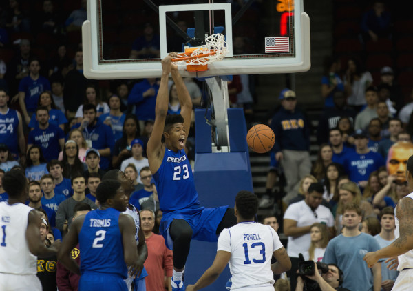 At this time two years ago, Justin Patton was getting ready to redshirt in his first year at Creighton. Two years later, his name will be called in the first round of the 2017 NBA Draft. (Robert Cole/ALOST)