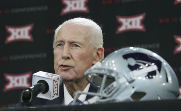 College Football Hall of Fame head coach Bill Snyder has been undergoing treatment after being diagnosed with throat cancer late last year, yet it has barely slowed down the 77-year old as he prepares K-State for 2017. (LM Otero/AP)