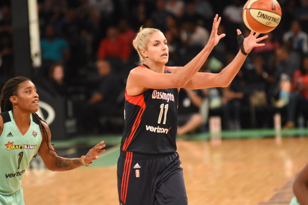 Though Washington came up short against New York on Friday, good news came in the form of the return of Elena Delle Donne, who scored 15 points in her return to the lineup after missing most of this month with a thumb injury. (Dontae J. Harris/ALOST)