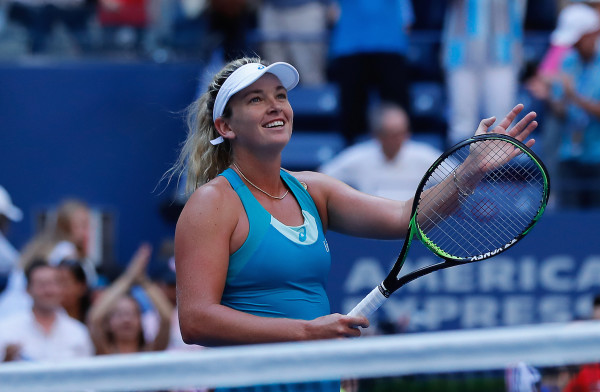 Everything has come together for American CoCo Vandeweghe, one of four American women in the US Open quarterfinals, in 2017, as she has reached her third quarterfinal of a Grand Slam in 2017. (Robert Cole/ALOST)