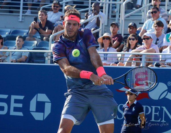Can Juan Martín del Potro pull off Ashe Stadium magic against Roger Federer tonight like he did against the Swiss in the 2009 US Open Final? (Photo by Robert Cole)
