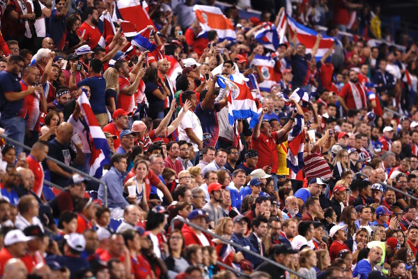 It was the fans of Los Ticos who were able to wave their red, white and blue flag proudly after its 2-0 win over the United States, the country's first win in World Cup Qualifying over the US in 32 years. (Robert Cole/ALOST)