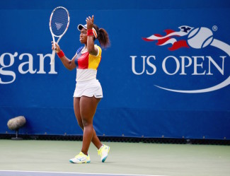 Sachia Vickery could not help but let her frustrations out in her loss to Kenin on Wednesday. (Robert Cole/ALOST)