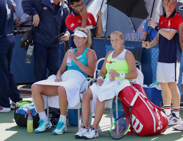 Along with being food friends off the court, CoCo Vandeweghe (l.) and Shelby Rogers teamed up in doubles for this year's US Open. (Robert Cole)