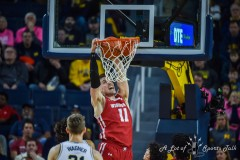ANN ARBOR, MICHIGAN - FEBRUARY 27: A college basketball game between the Michigan Wolverines and the Wisconsin Badgers at Crisler Arena on February 27, 2020 in Ann Arbor, Michigan. The Wisconsin Badgers won the game 81-74. (Photo by Aaron J. / A lot of Sports Talk)